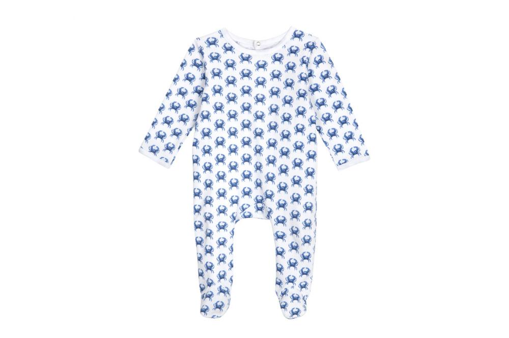 Brai babypyjama krab blauw