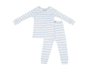 Bob Blossom White & Pebble Grey Squiggle kinderpyjama