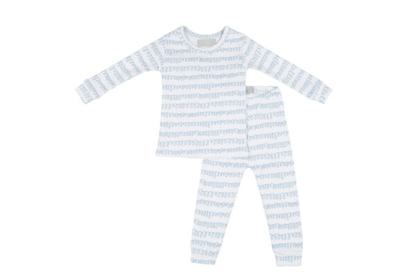 Bob Blossom White & Pebble Grey Squiggle kinderpyjama slaapkopje
