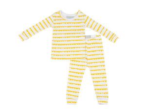 Bob Blossom White & Sunshine Yellow Bunting kinderpyjama slaapkopje