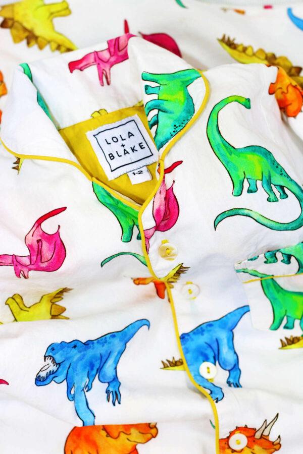 Lola Blake Dino kinderpyjama slaapkopje