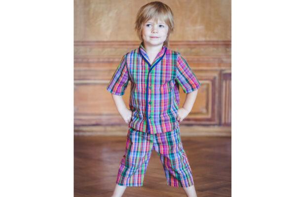 Amikik Short pyjama Samule checks