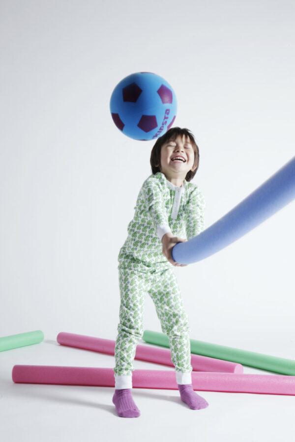 Brai pyjama jongens meisjes matcha monkey groen aapje