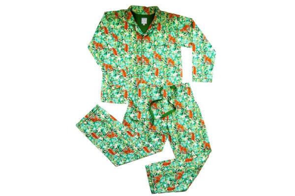 Lola + Blake Dames Pyjama Jungle Slaapkopje