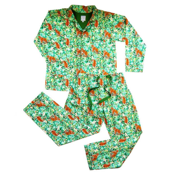 Lola + Blake Dames Pyjama Jungle Slaapkopje