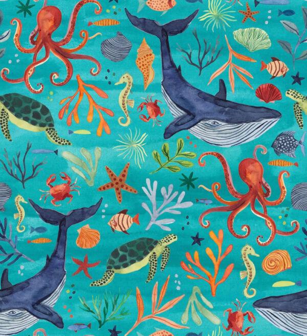 Lola + Blake kinderpyjama Under the Sea Slaapkopje