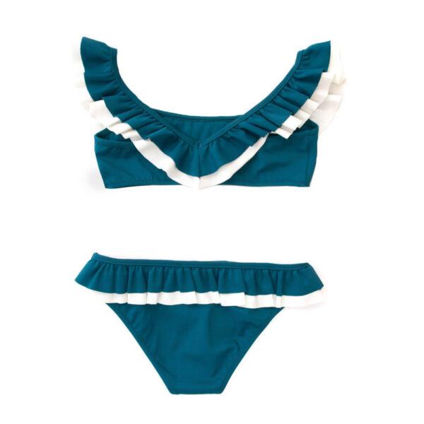 Folpetto Bikini Kate Teal Ivory