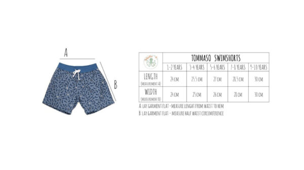Folpetto zwemshort Tommaso Dusty blue