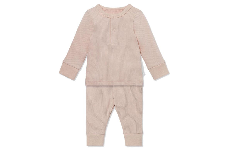 Mori Ribbed Pyjama Set Blush