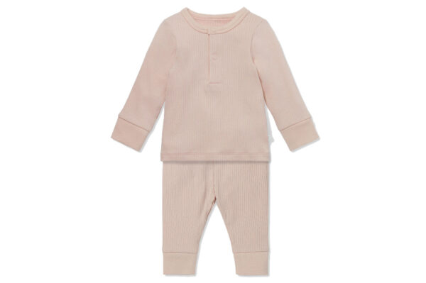 Mori Ribbed Pyjama Set Blush