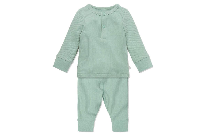 Mori Ribbed Pyjama Set Mint