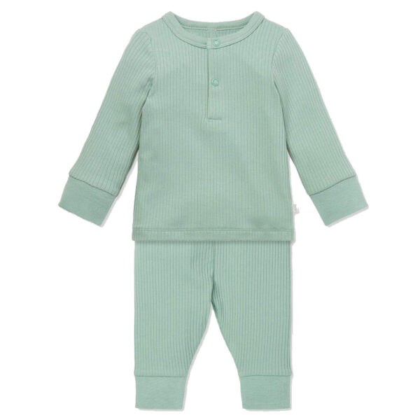Mori Ribbed Pyjama Set Mint
