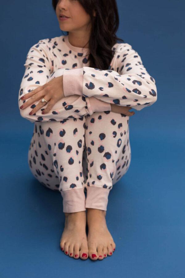Jammie Doodles Pink Animal Dames pyjama bij Slaapkopje