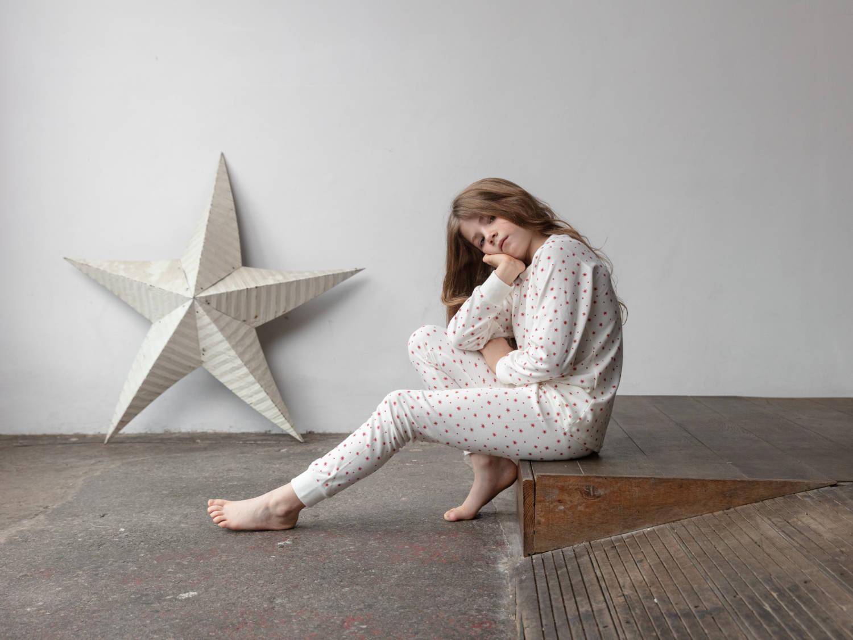Sleepy Doe pyjama Winter Star Slaapkopje