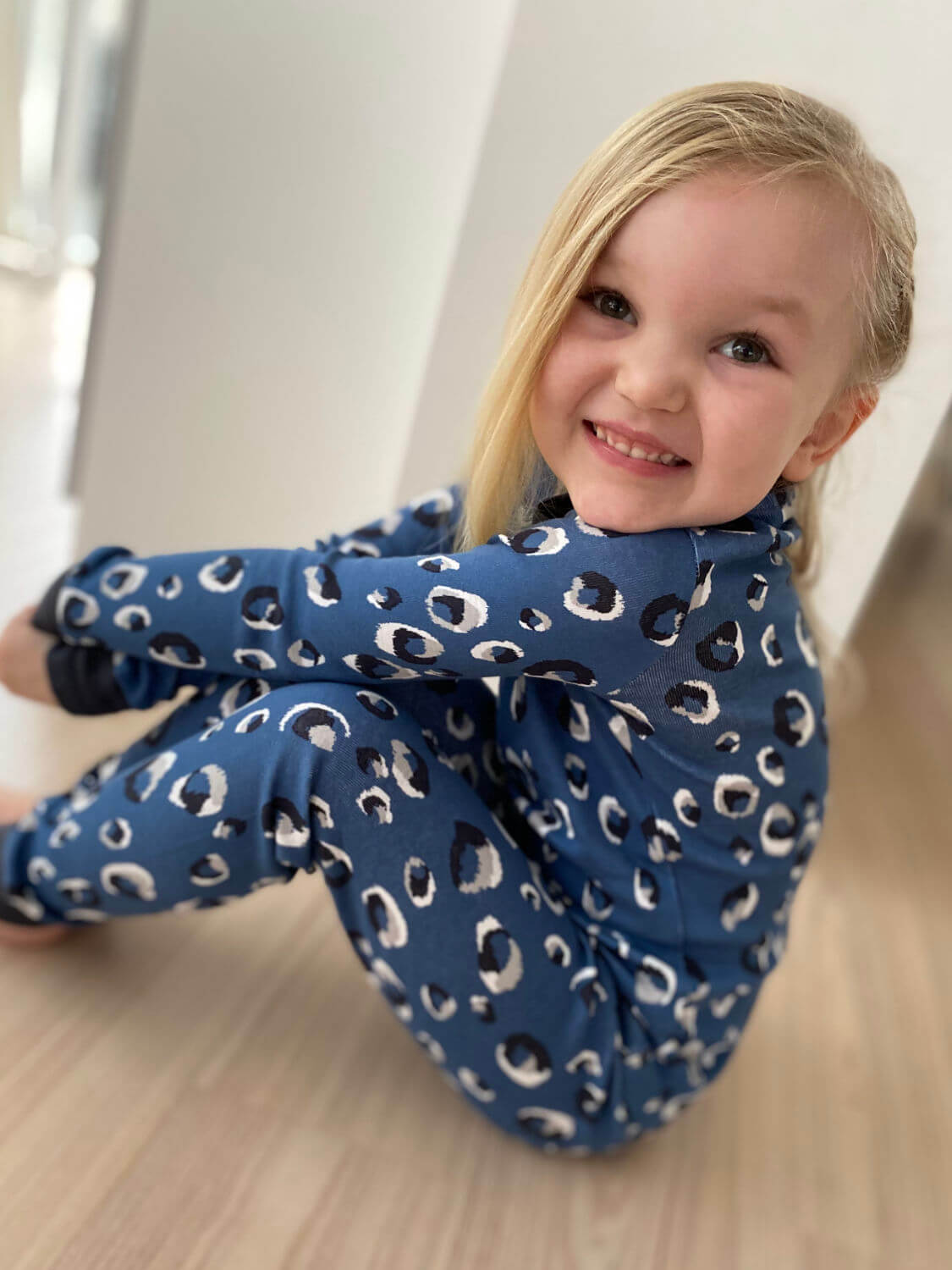 Jammie Doodles Blue Animal Pyjama kind en dames
