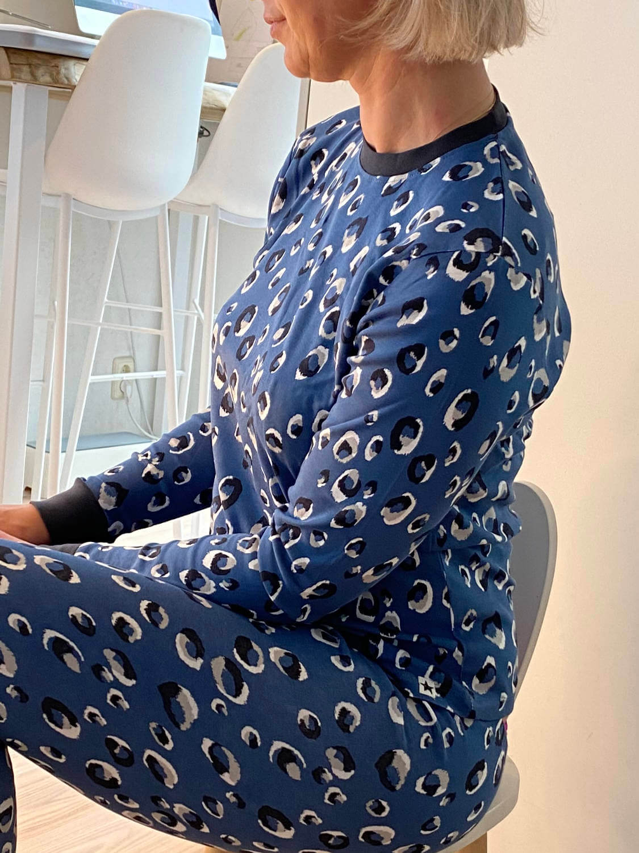 Jammie Doodles Blue Animal Pyjama kind en dames