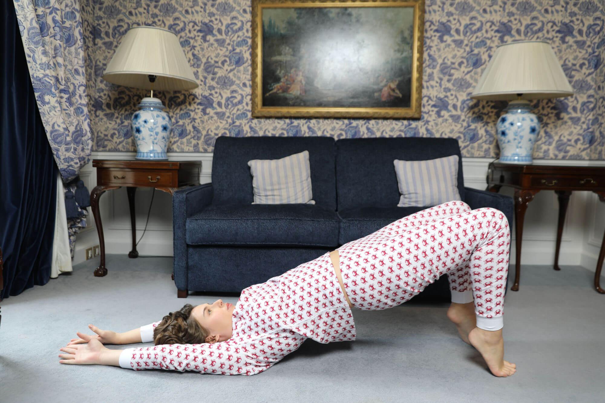 BRAI Dames pyjama Crab me a River Grenadine