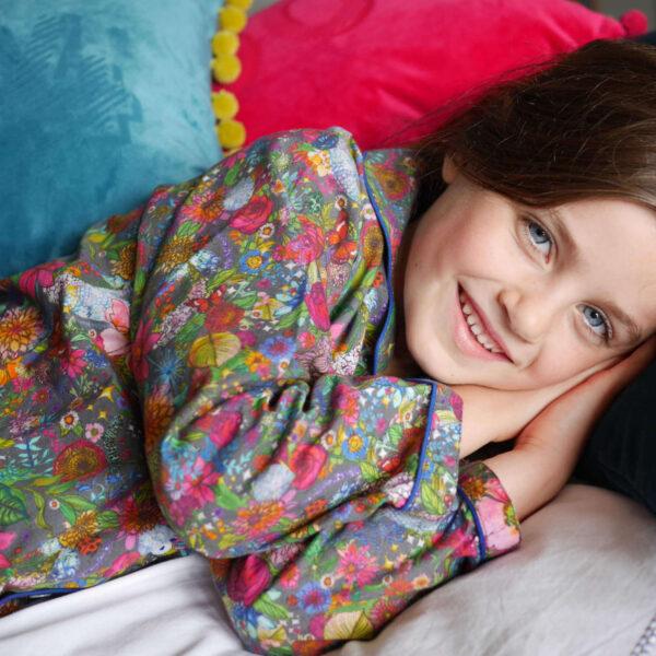 Lola + Blake Kinderpyjama Floral Disco bij Slaapkopje
