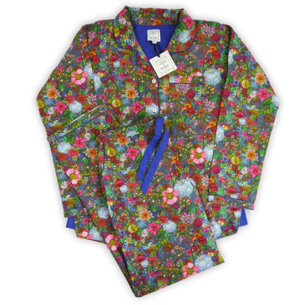 Lola + Blake dames pyjama Floral Disco bij Slaapkopje